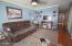 Level 1 living room showing beautiful hardwood floors