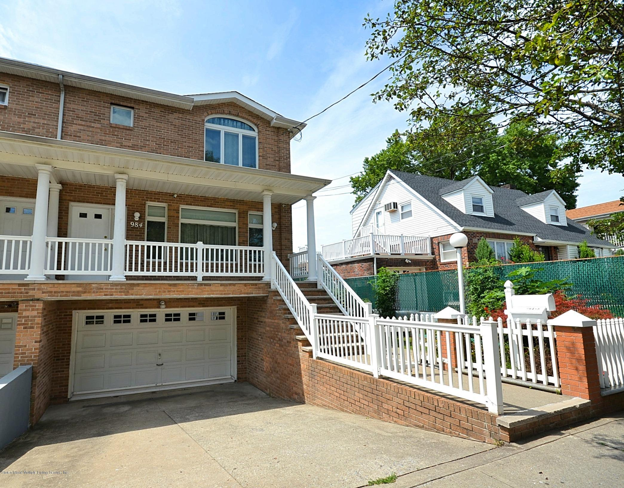 Two Family - Semi-Attached in Manor Heights - 984 Manor Road  Staten Island, NY 10314