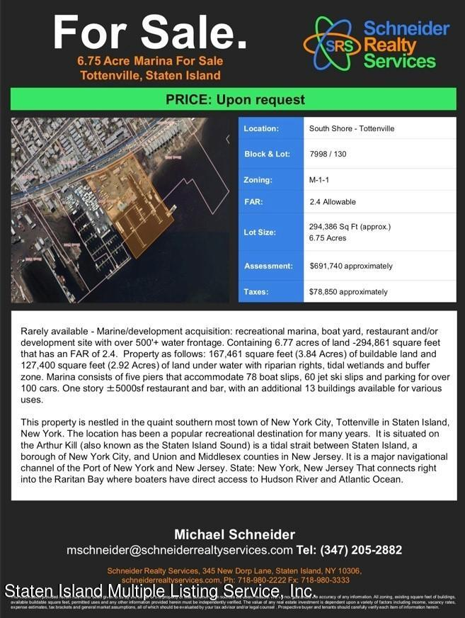 Land/Lots in Tottenville - 225 Ellis Street  Staten Island, NY 10307