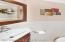 Newer half bathroom on main level