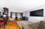 Living room, all hardwood floors