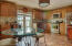 eat in kitchen with french doors that open to backyard patio