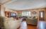 open concept enter into living room