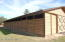 SIDE VIEW OF HORSE BARN