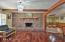 Wood beamed ceiling