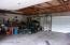 Inside Garage- has 2 double roll up doors