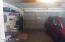 Large 2 car garage with attic storage