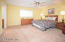 King size Master Bedroom Suite is located at the back right corner of the home