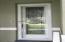 Beautiful beveled glass entry door