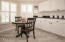 Eat-in Kitchen - Custom Plantation shutters - pantry
