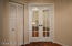 Beveled glass French door entry to Den/Office