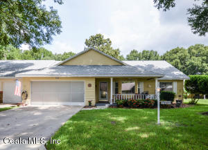 Remodeled and updated! This spacious end-unit Augusta model villa home is located in the much sought after gated 55+ golf community of On Top of the World. This home features 2 bedrooms, 2 baths, Library/Flex Room, Great Room, 2-car garage, split bedroom floor plan, Sunroom (currently used as a Dining Room), newer roof (2018), newer windows (2007), HVAC (2003), granite Kitchen counters, updated Kitchen and Baths, pull-down steps to access attic storage, and much more! Lawn care, water & sewer, basic cable, gym, exercise classes, 24-hour guarded gate, exterior painting, and more are included in your monthly amenities fee.