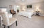 Huge Master Bedroom Suite is located at the back left corner of the home