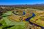 The Little Deschutes River meanders through the Crosswater Golf Course.