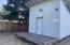 Storage shed off of back alley