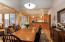 Large dining room area adjoins kitchen and living room