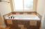 Master bathroom, oversized soaking tub.