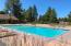 One swimming pool is a salt water pool.