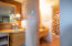 Living space has full bath, shower/tub combo.