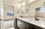 Double sink vanity, large vanity
