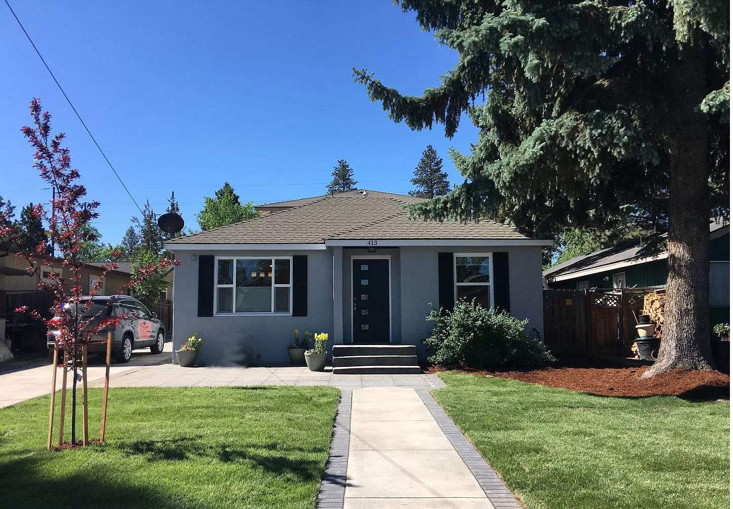 Special multifamily opportunity in the heart of Bend. Completely updated 1950's Cottage, which will surprise even the most distinguished investor. GREEN updates throughout, lovely shared patio for Central Oregon outdoor living. Second unit over detached garage, built in 2002, has Cascade Mountain views and private balcony. Each unit has garage, laundry and storage area. Property is professionally managed with tenants in place.  Cottage $1,495/month, ADU $1,395/month. Oregon Landlord/Tenant Laws Apply.