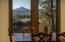 What a view! One can never tire of Mt. Bachelor as a guest at mealtimes.