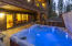 The hot tub and lower patio are just off of the family room and guest bedrooms.