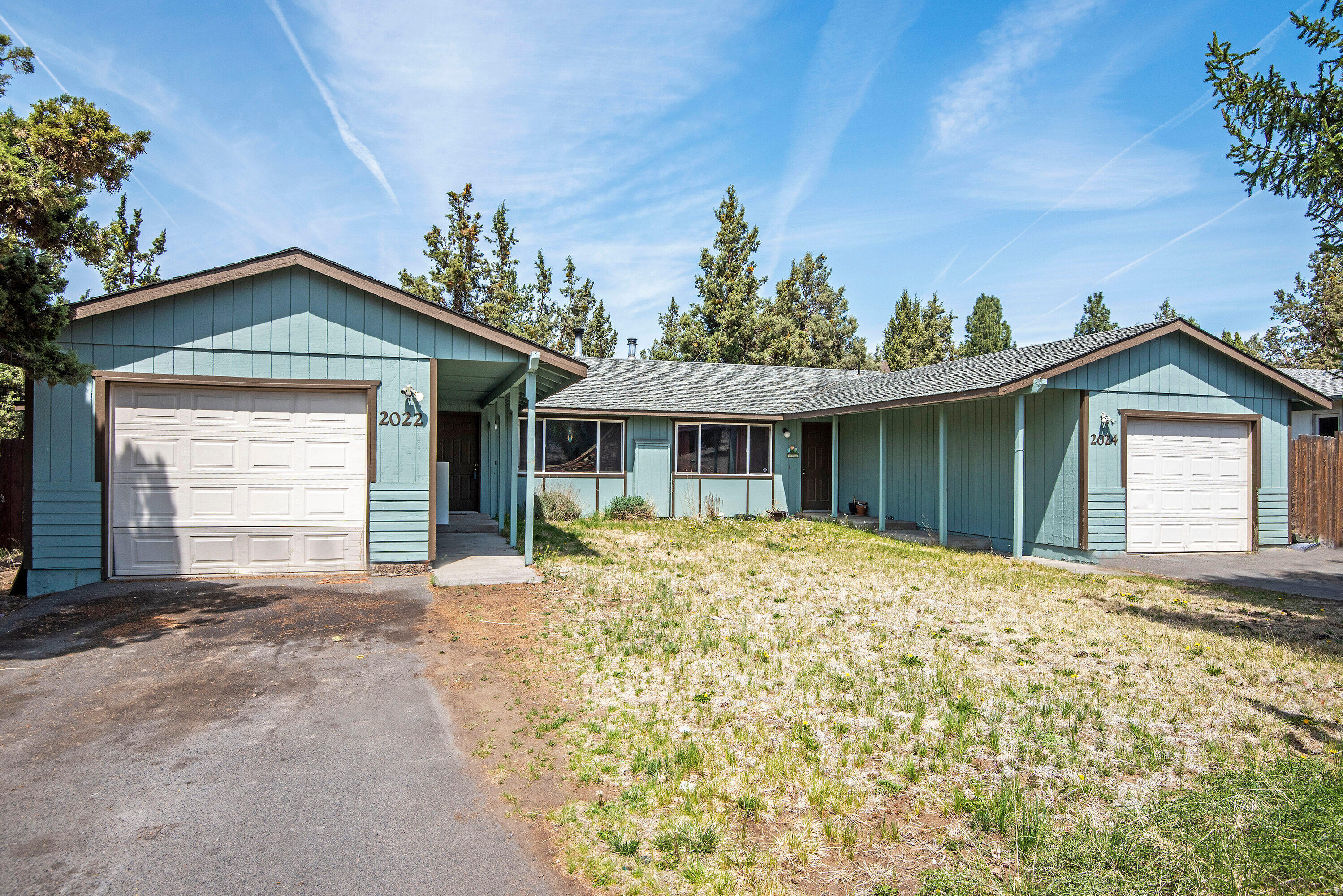 Single level duplex close to hospital and all other amenities. Single-car garage and driveway parking for each unit, as well as street parking. Large .29 acre lot zoned RM. Each unit has a spacious fully-fenced backyard. Long-term renters in good standing who would like to stay.