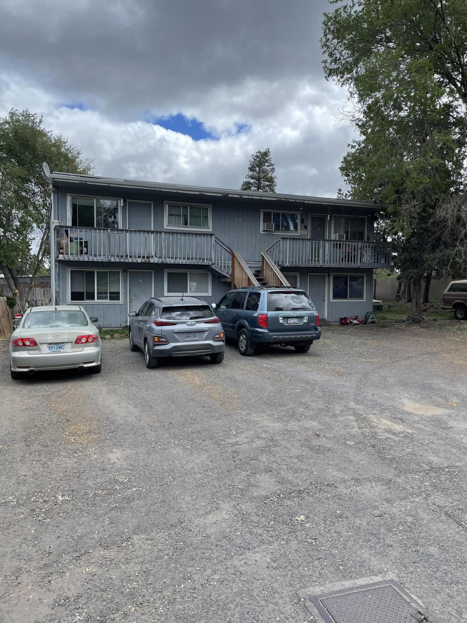 Bend Fixer Fourplex.  Great price point.  Centrally located near Jaycee Park.  All one bedroom units.  Fully occupied with long term tenants all current on rent payments.  Much needed affordable housing.  In Opportunity Zone.  Possible potential for additional units, but buyer must verify.  Rent increase scheduled for October 1.  Lots of parking.  Great value add opportunity.