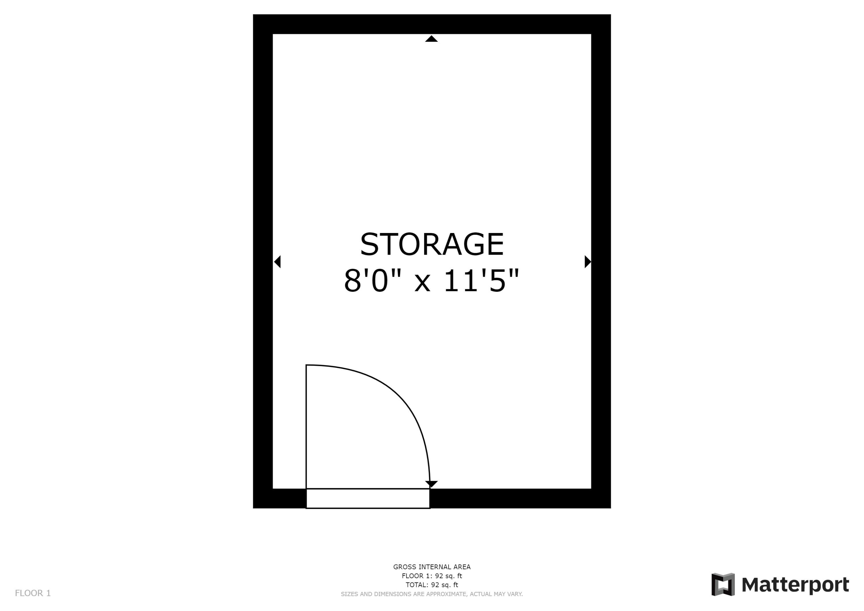 Storage Floorplan 93 Northridge Terrace