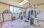 exercise room inside 4 bay shop