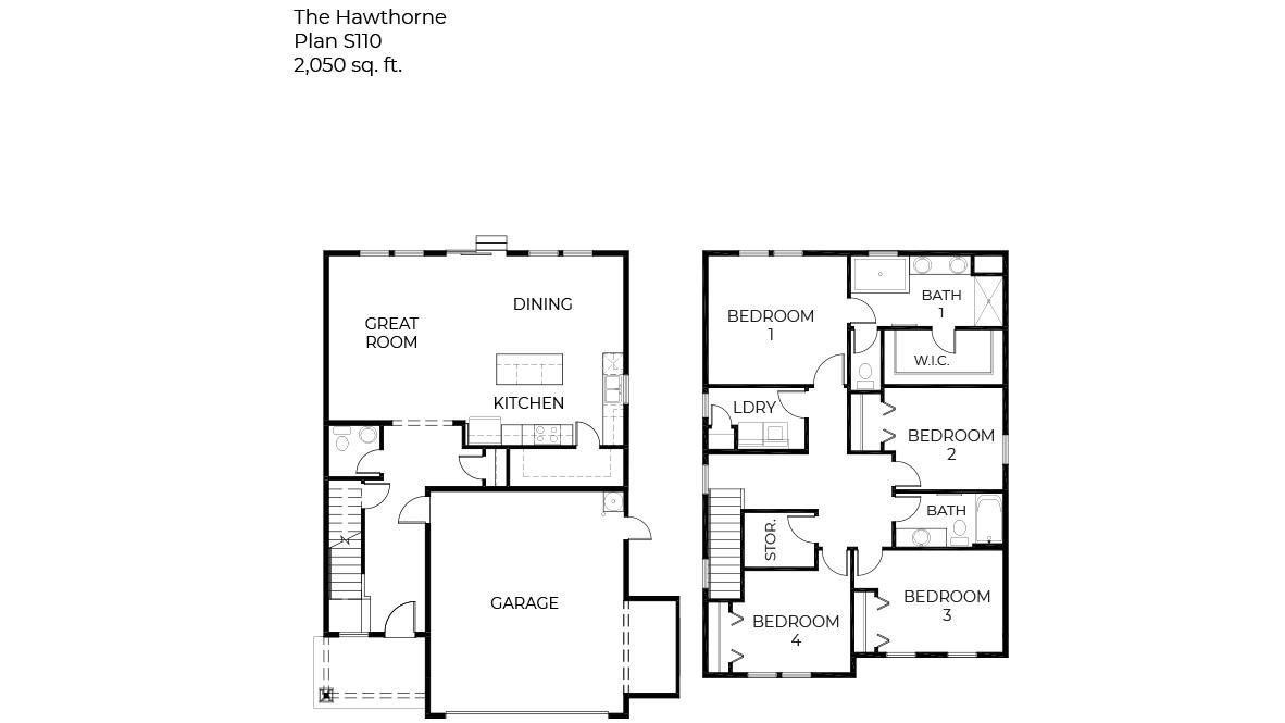 S110 Hawthorne Duplex Floorplan