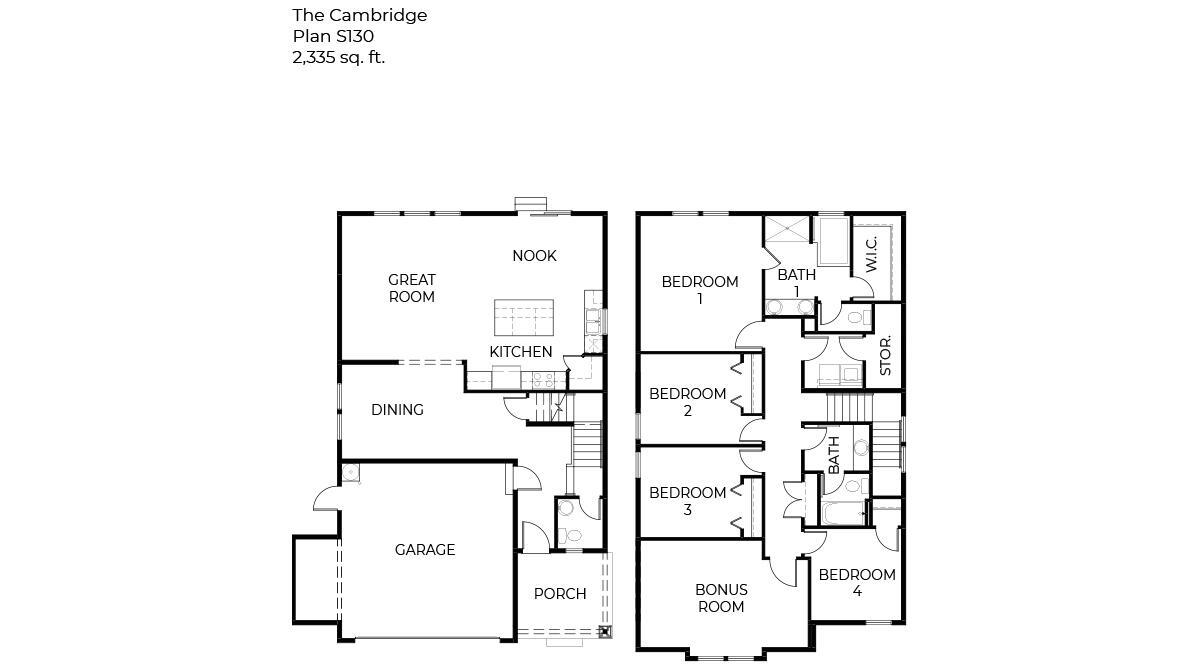 S130 Cambridge Duples Floorplan