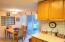 Country kitchen w/access to deck overlooking the picturesque pasture/horses!