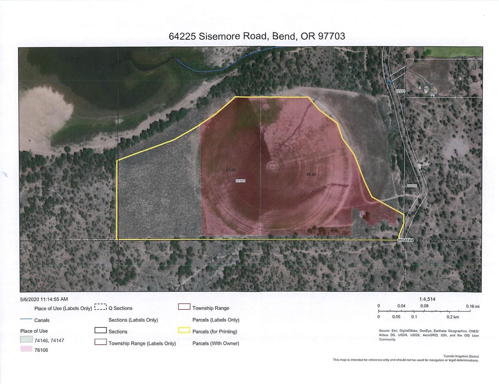 Bull Springs Ranch Property Map