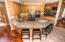The kitchen, with wrap around island, is perfect for entertaining.