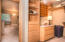 There is a large walk-in closet that you pass through moving into the Primaty Bath.