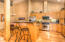 Kitchen island with 2 - 3 bar stool seating