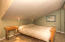 More space in the loft with a vaulted ceiling and ample space for a large bed, sofa and TV viewing, etc.