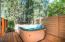 Hot tub deck off the master bathroom