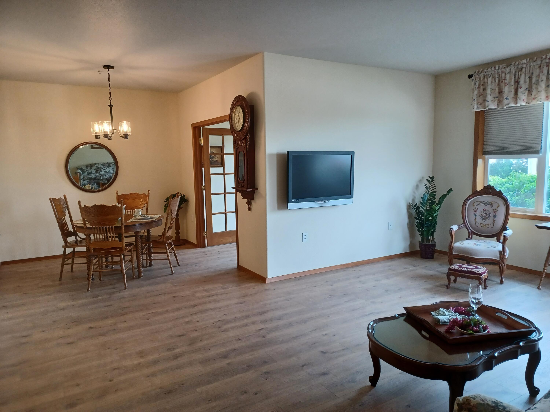 Entry & new wood flooring
