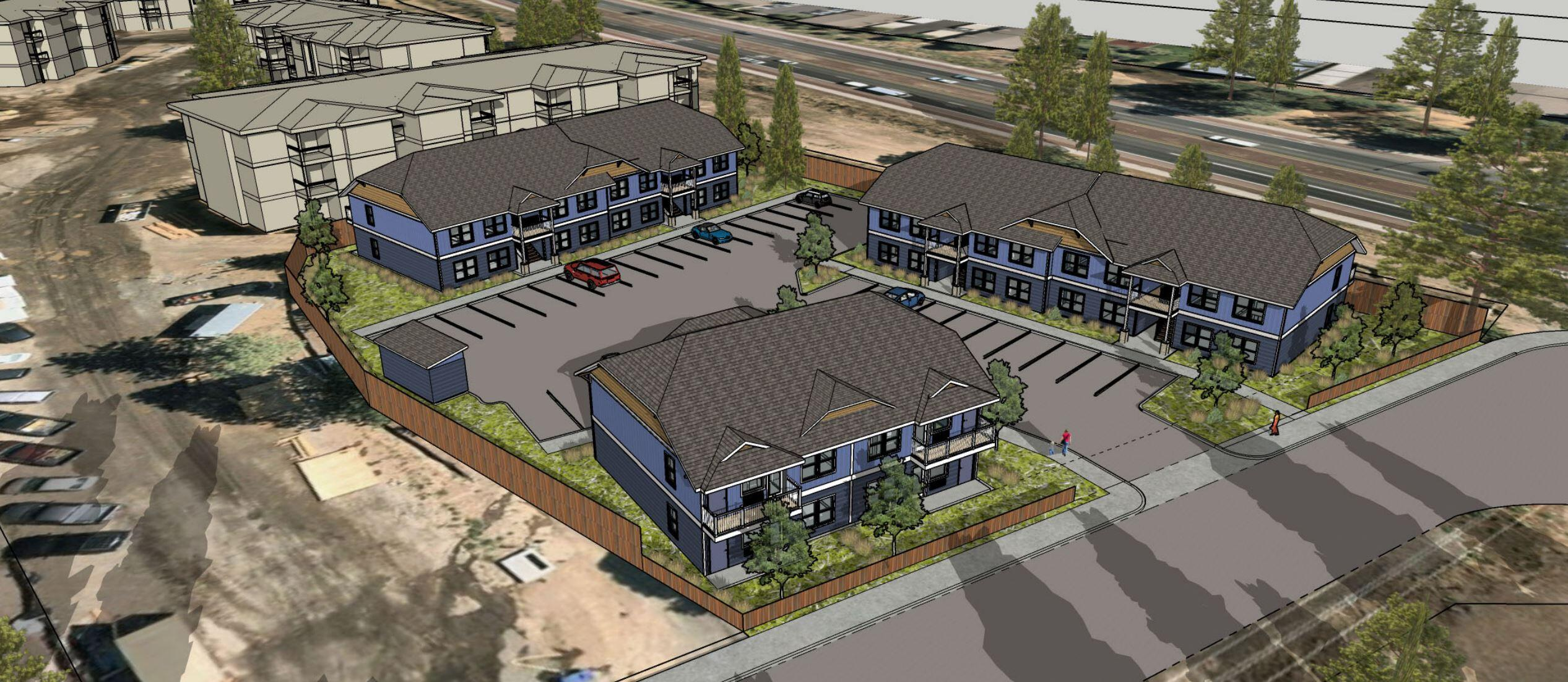New 20 Unit Apartment Complex located in SW Bend. Estimated completion of December 2022. This property will be completed and fully leased prior to closing. All 2 beds and 2 bath units. Central location with easy access to shopping and services.