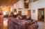 Cedar accented, vaulted ceilings.