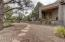 Native Landscaping, 4 foot Pony Wall Encloses, Creating a Large Courtyard Setting,