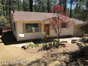 Photo of 4753 S Ponderosa Park Road, Prescott, AZ a single family home around 1200 Sq Ft., 2 Beds, 1 Bath