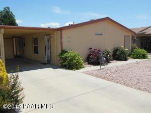 Photo of 633 N Vermilion Drive, Prescott Valley, AZ a single family manufactured home around 1200 Sq Ft., 3 Beds, 2 Baths