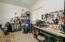 Handy Garage Workshop Area with Window & Epoxy Floor.
