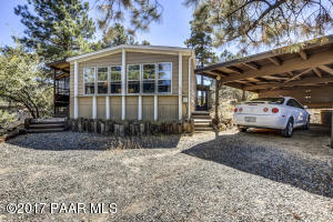 Photo of 185 Oxbow Street, Prescott, AZ a single family manufactured home around 1600 Sq Ft., 2 Beds, 2 Baths
