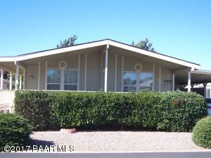 Photo of 614 N Blue Spruce Drive, Prescott Valley, AZ a single family manufactured home around 1300 Sq Ft., 2 Beds, 2 Baths