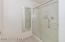 Separate shower room in downstairs suite.